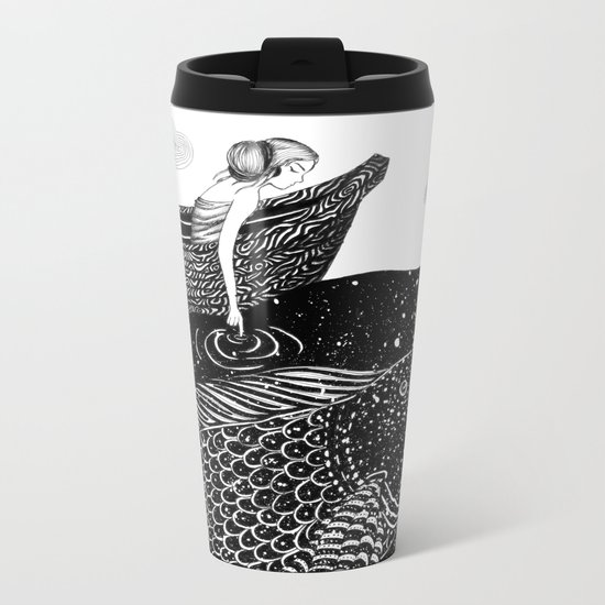 The Shimmering Sea Lights Metal Travel Mug