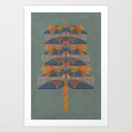 Lovebirds in a tree Art Print
