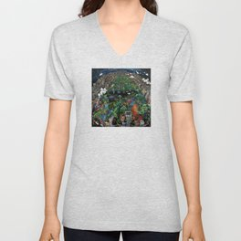 Central Park (oil on canvas) Unisex V-Neck