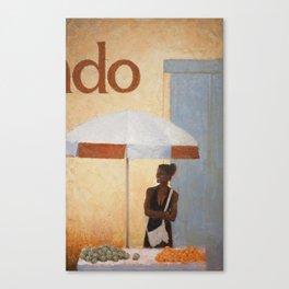 Vendedora de Frutas Canvas Print