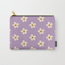 Retro Happy Daisy Flower in Purple Carry-All Pouch
