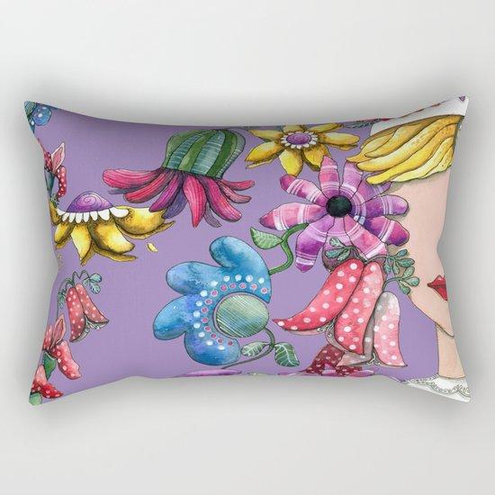 I Love the Flower Girl Lavender Rectangular Pillow