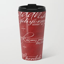 Poetry Metal Travel Mug