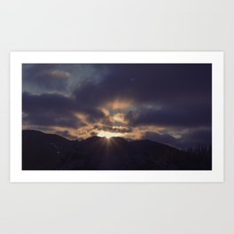 Yesterday Is Gone // Today Is A New Day Art Print
