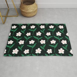 Colorful floral Cut Out Flowers and Shapes II Rug
