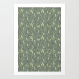 Begonia Leaves Pattern Art Print