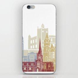 Chesterfield UK skyline poster iPhone Skin