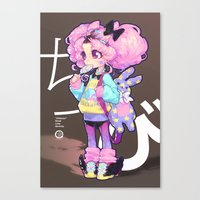 barachan Canvas Prints featuring chibi by barachan