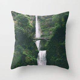 Multnomah Falls III Throw Pillow