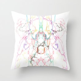 Exploading dancer Throw Pillow