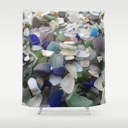 Sea Glass Assortment 5 Shower Curtain