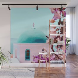 Floral Greece Wall Mural