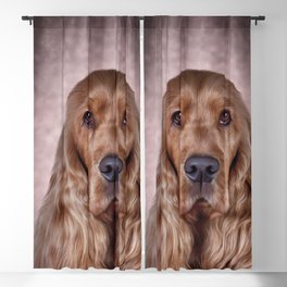 English Cocker Spaniel Blackout Curtain