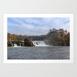 Red Arrow At Rhine Falls Art Print