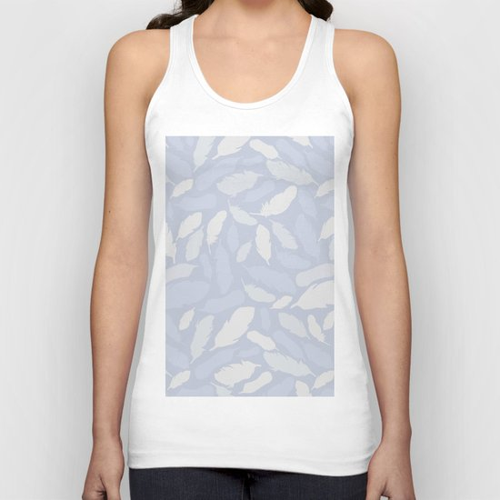 Feather Pattern Light Blue Unisex Tank Top