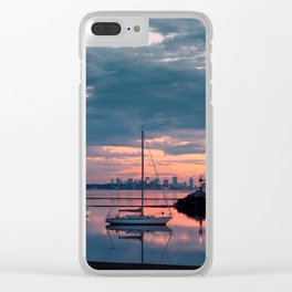 Sunset in Boston Clear iPhone Case