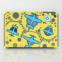 airplanes iPad Cases featuring blue airplanes by Isabella Asratyan