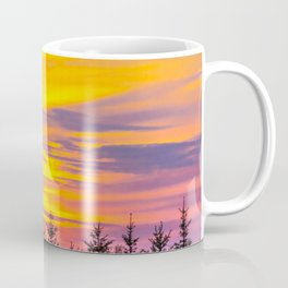 Sunset above the forest Coffee Mug