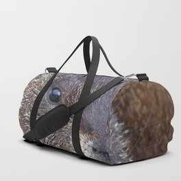 Watercolor Marmot 17, Rocky Mountain National Park, Barking at the Wind Duffle Bag