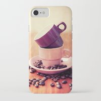 cafe iPhone & iPod Cases featuring LE CAFE by Claudia Drossert