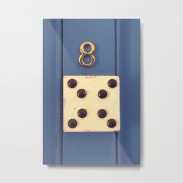dice door number Metal Print
