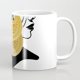 Girl with القمر بوبا earrings Coffee Mug