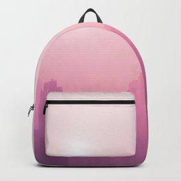Pink City Skyline Backpack