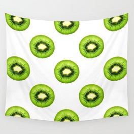Kiwi Fruit Slice Wall Tapestry