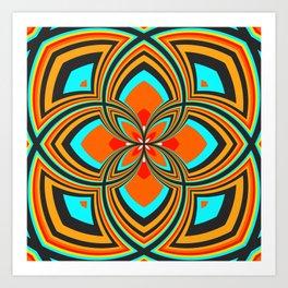 Spiral Rose Pattern B 2/4 Art Print