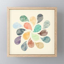 Colorful Water Drops (Watercolor version) Framed Mini Art Print