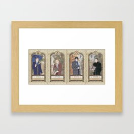 Sherlock Victorian Language of Flowers Four Seasons Framed Art Print