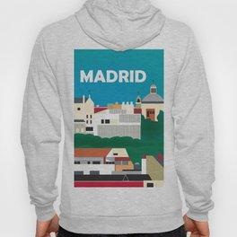 Madrid, Spain - Skyline Illustration by Loose Petals Hoody