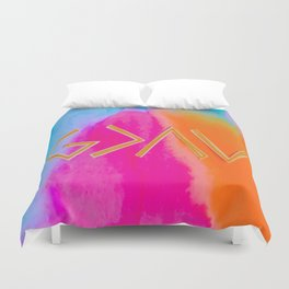 God Is Greater Than The Ups and Downs- Mix ORANGE Duvet Cover