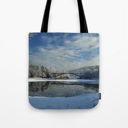 River View - Finally Looks Like Winter Tote Bag