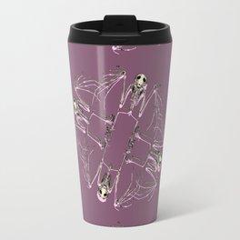 Bat Skeleton Mandala Travel Mug