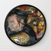 patrick Wall Clocks featuring patrick by rAr : Art by Robyn Ashley Rosner