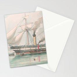 Vintage Illustration of The President's Steamship (1840) Stationery Cards