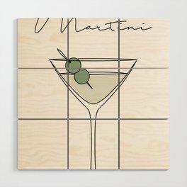 Martini Wood Wall Art