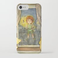 peter pan iPhone & iPod Cases featuring Peter Pan by Allyson Kelley