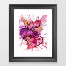 Six Valentines Framed Art Print