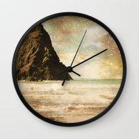 interstellar Wall Clocks featuring Interstellar by Jenndalyn