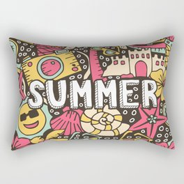 Summer Doodle Rectangular Pillow