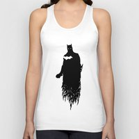 justice league Tank Tops featuring Justice Silhouette #2 by iankingart