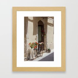 Bicycle in Syracuse Framed Art Print