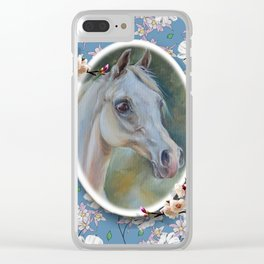Spring Horse Clear iPhone Case