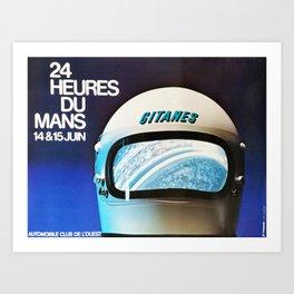 Le Mans, vintage poster, t-shirt, 1975 Art Print