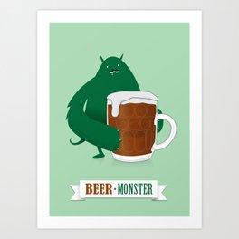 Beer Monster Art Print