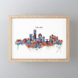 Milwaukee Skyline Framed Mini Art Print