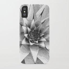 Black and White Cactus Succulent iPhone Case