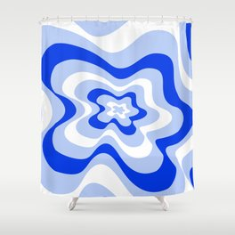 Abstract pattern - blue and white. Shower Curtain
